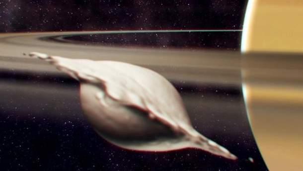 Спутник Сатурна в форме пельменя