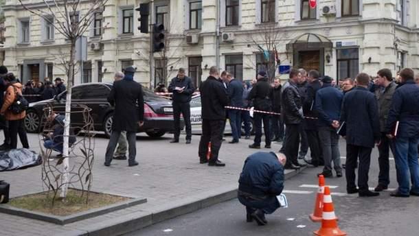 Місце вбивства Дениса Вороненкова у Києві