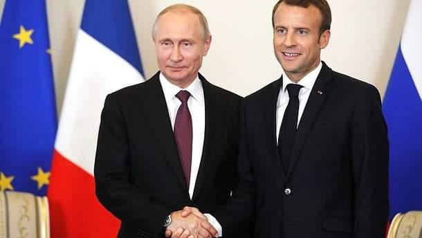 Результати зустрічі Путіна з Макроном