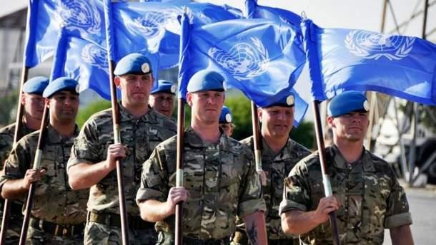 Миротворцы ООН должны заменить российские войска на Донбассе
