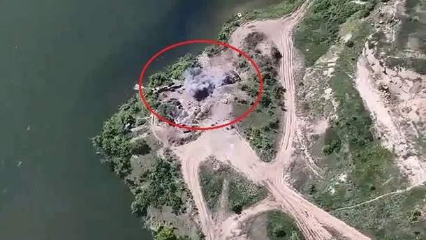 Удар сил ООС по проросійських бойовиках на Донбасі