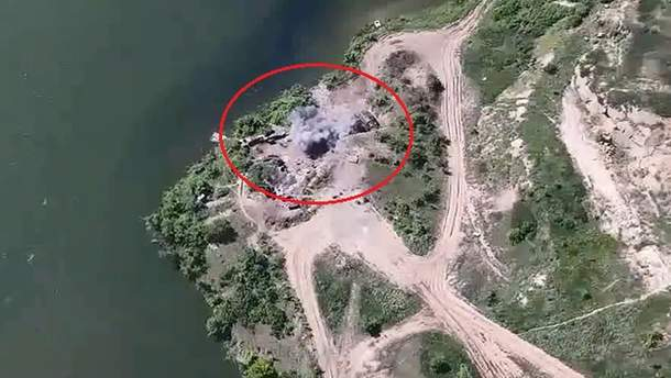 Удар сил ООС по пророссийским боевикам на Донбассе