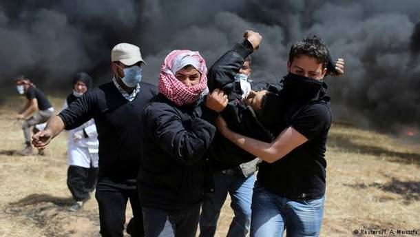 Один палестинець помер від вогнепальних поранень у Секторі Гази, ще 86 осіб отримали поранення