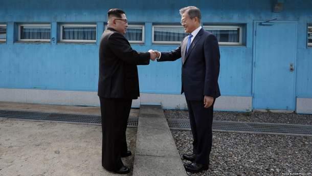Ким Чен Ын, и Мун Чжэ Ин