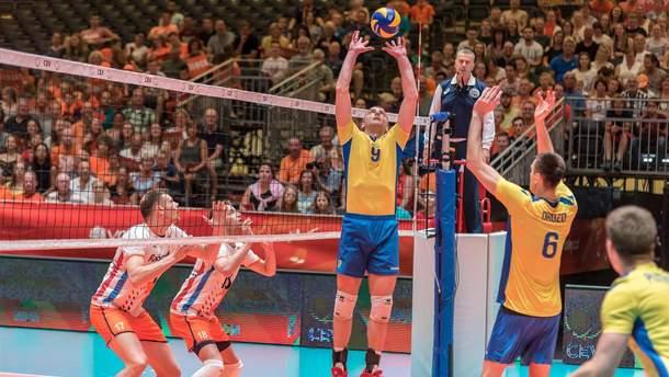 Сборная Украины по волейболу в тяжелом матче победила Нидерланды на выезде