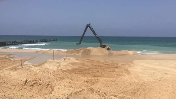 Израиль начал возведение морского барьера вдоль границы с сектором Газа