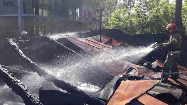 """Пожежа у київському кінотеатрі """"Екран"""": рятувальники розповіли важливі деталі"""