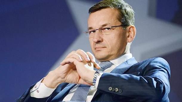 """Матеуш Моравецький розповів про загрози від """"Північного потоку -2""""."""
