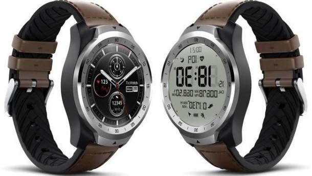 Mobvoi выпустила оригинальные смарт-часы с двумя экранами: фото