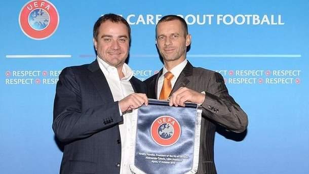 Президент ФФУ и президент УЕФА