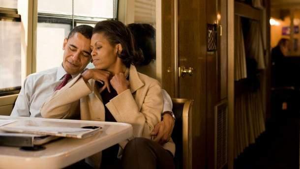 Барак Обама с женой Мишель