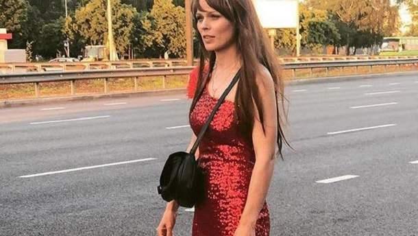 """Оля Фреймут на Окружной во время съемок шоу """"Оля"""""""