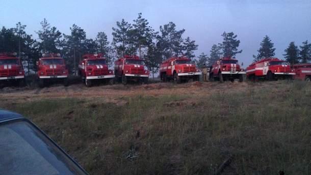 Масштабный пожар на Херсонщине