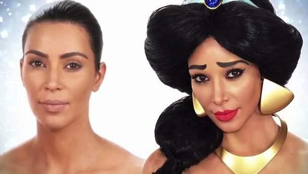 """Ким Кардашян в образе принцессы Жасмин из мультфильма """"Аладдин"""""""