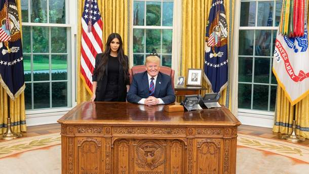Кім Кардашян  і Дональд Трамп