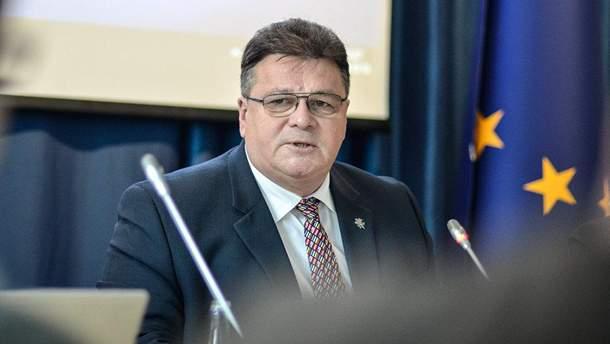 Литовський міністр закордонних справ Лінас Лінкявічюс