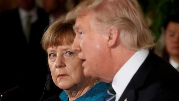 У Трампа и Меркель натянутые отношения