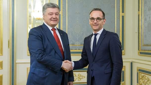 Порошенко зустрівся з головою МЗС Німеччини Гайко Маасом