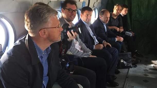 Клімкін з Маасом прибули на Донбас