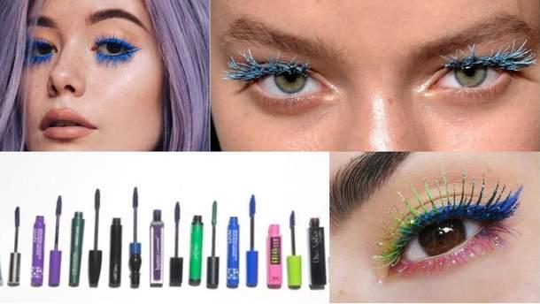 Как сделать макияж в с цветной тушью