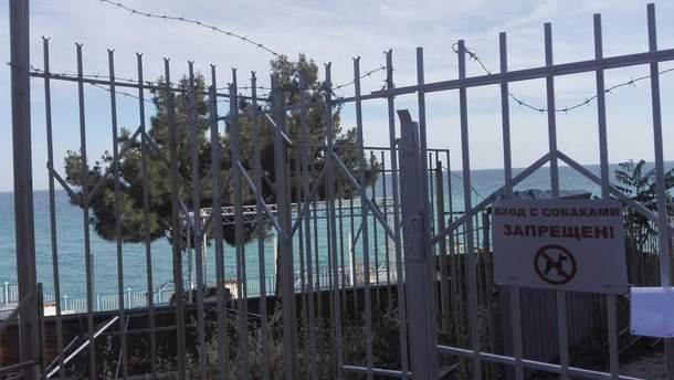 В оккупированном Крыму закрыли для туристов один из пляжей