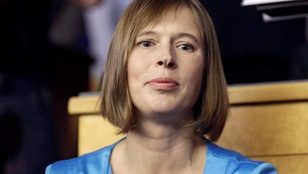 Президент Естонії закликала називати те, що відбувається в Грузії і в Україні війною