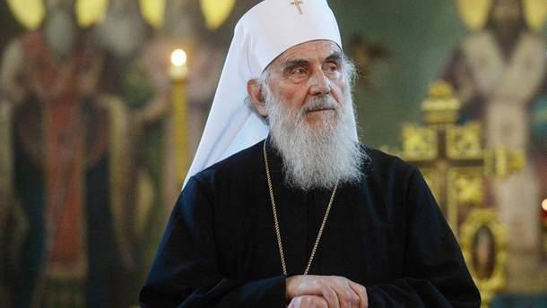 """Глава сербської православної церкви Патріарх Іриней потрапив до бази """"Миротворця"""""""