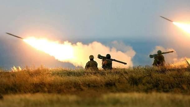 Боевики ведут обстрелы, используя гранатометы различных типов