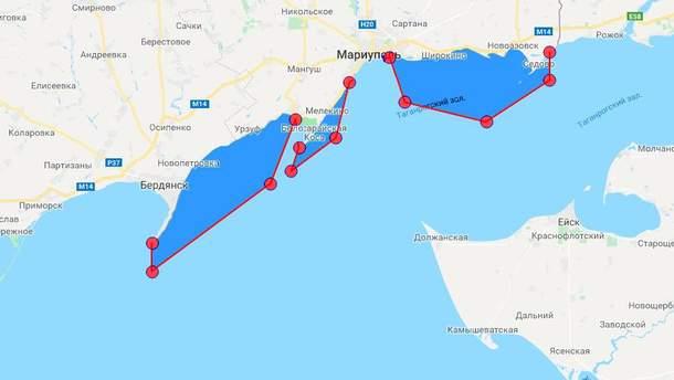 Стрільби в Азовському морі