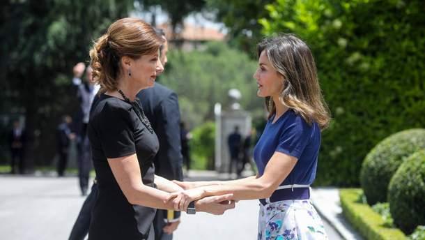Марина Порошенко та королева Іспанії Летісія