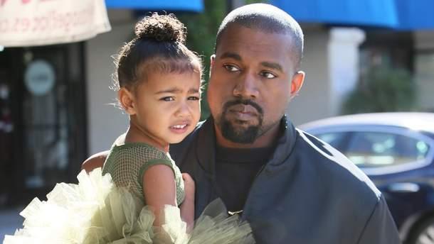 Каньє Вест з донькою Норт