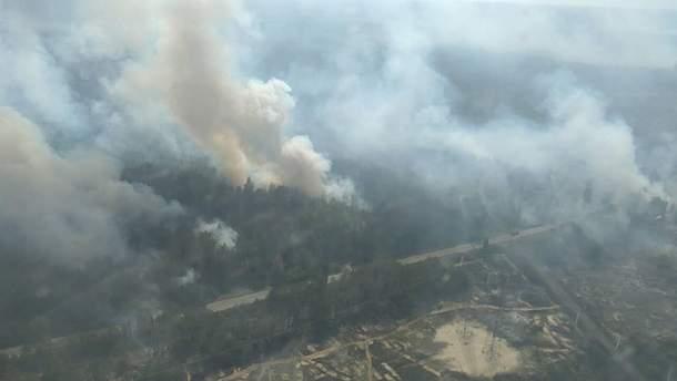 Пожежа у Чорнобильській зоні