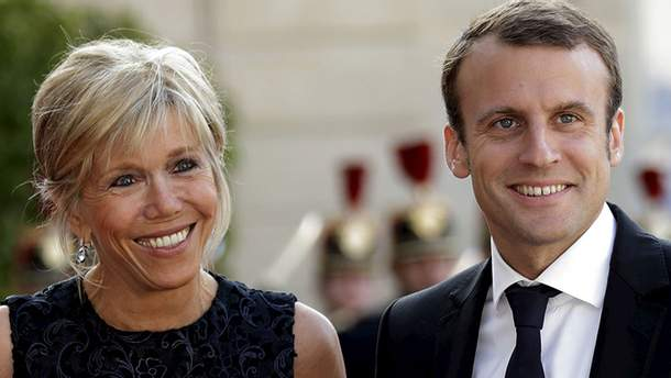 Еммануель Макрон з дружиною Бріджит