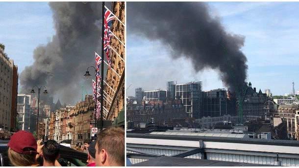 Пожар в Лондоне 6 июня