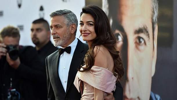 Джордж та Амаль Клуні на кінопремії