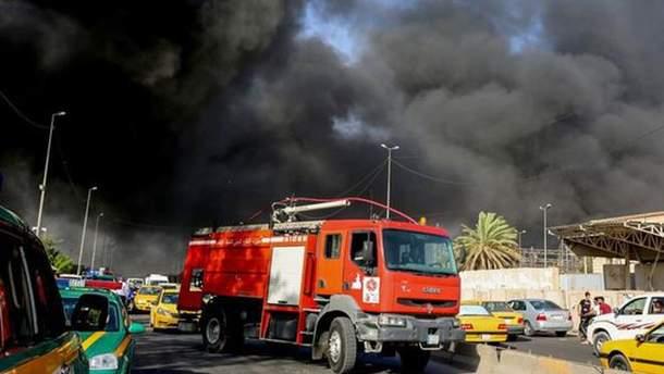 Пожар на складах в Ираке