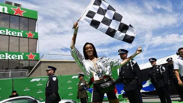 """Вінні Харлоу зупинила перегони """"Формули-1"""""""