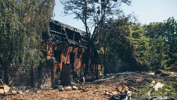 В Киеве сгорела чиновничья баня