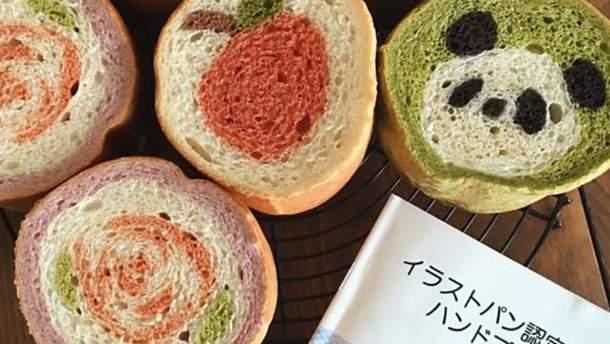 Японка создает хлеб с удивительными рисунками