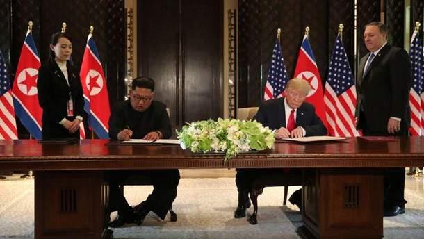 Про що йдеться в угоді між Дональдом Трампом і Кім Чен Ином