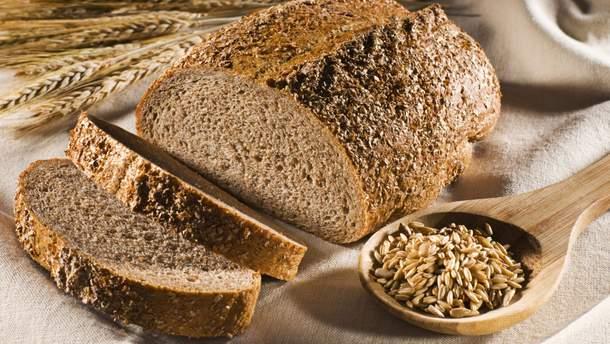 Клітковина міститься у цільнозерновому хлібі