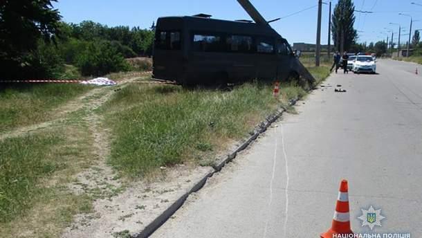 В Запорожье маршрутка насмерть сбила 42-летнего пешехода