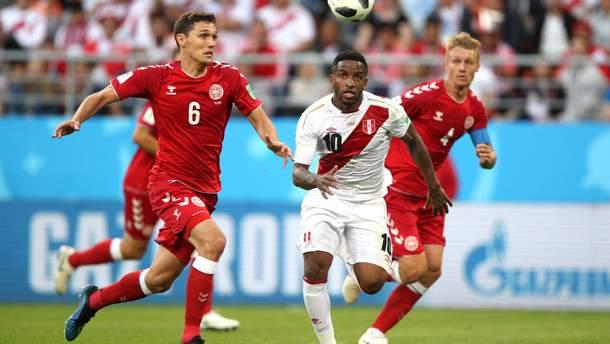 Перу – Дания: видео голов и моментов матча Чемпионата мира 2018