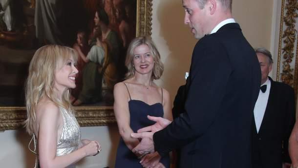 Кайли Миноуг встретилась с принцем Уильямом