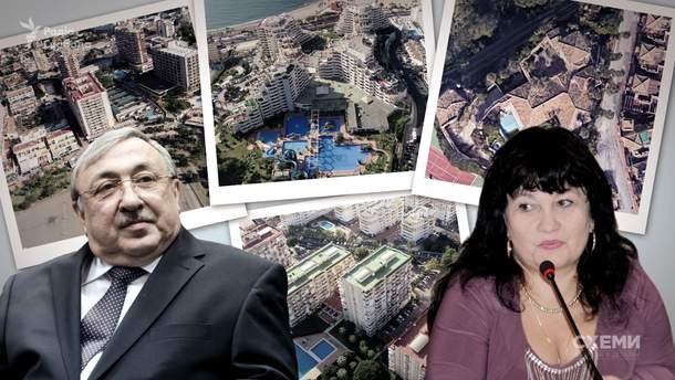 Экс-жена Татькова имеет 9 объектов недвижимости в Испании