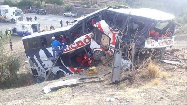 У Болівії сталася смертельна аварія