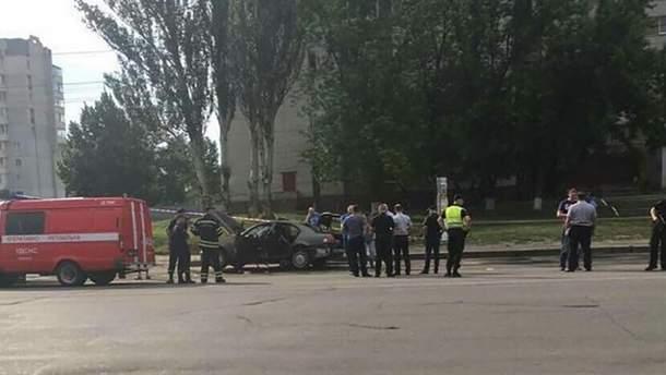 В Черкассах взорвался автомобиль: в полиция подтвердили смерть водителя