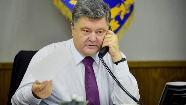 Петро Порошенко провів телефонну розмову з президентом Франції