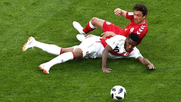 Сборная Перу проиграла сборной Дании, не реализовав пенальти