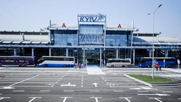 В аэропорту'Киев люди блокируют вылеты самолетов